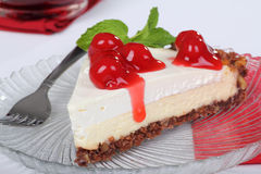 Cherry Cheesecake Royalty Free Stock Photo