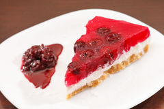 Cherry cheesecake Royalty Free Stock Photos