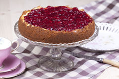 Cherry cheesecake Royalty Free Stock Image
