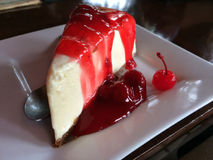 Cherry Cheesecake Foto de Stock Royalty Free