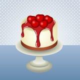 Cherry cheesecake background Royalty Free Stock Photos