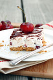 Cherry Cheesecake Bars Royalty Free Stock Photos