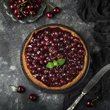 Delicious cherry cheesecake Royalty Free Stock Photo
