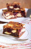 Cherry cheesecake marbled brownies Royalty Free Stock Image