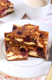 Cherry cheesecake marbled brownies Royalty Free Stock Photography