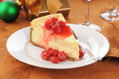 Cherry cheesecake Stock Photography