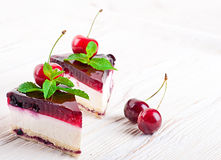 Cherry cheesecake Royalty Free Stock Photography