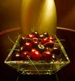 Cherry/Cherries. Faux cherries in a hotel room in Las Vegas.  They looked so real, I reached for one to eat Royalty Free Stock Image