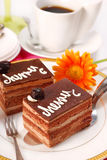 Cherry and chocolate cake Royalty Free Stock Photo