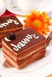 Cherry and chocolate cake Royalty Free Stock Photos