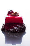 Cherry and chocolate cake Stock Photography