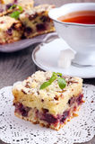 Cherry and chocolate streusel bars Royalty Free Stock Images