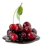 Cherry in a chocolate Royalty Free Stock Photos