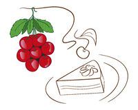 Cherry Christmas-Dekoration Stockbild
