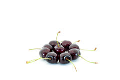 Cherry circle. Cherries in a circle isolated on white Stock Images