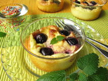 Cherry Clafoutis Stock Images