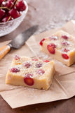 Cherry clafoutis on brown paper Stock Photography
