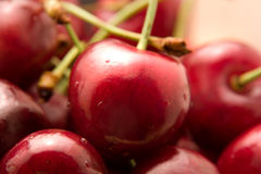 Cherry Close-up. Close-up of Red Cherry-es with depth-of-field Stock Photography