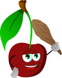 Cherry with a club Stock Images