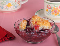 Cherry Cobbler stock images