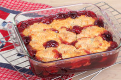 Cherry Cobbler royalty free stock photo