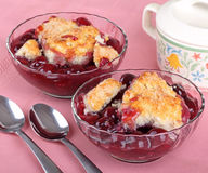 Cherry Cobbler Stock Photos