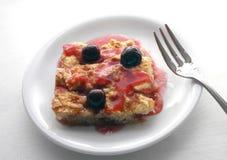 Cherry Cobbler - Cake I. Studio shot of Cherry Cobbler stock photo