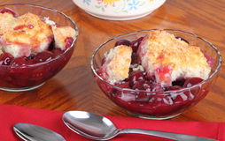 Cherry Cobbler Dessert Stock Images