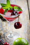 Cherry Cocktail Stockbilder