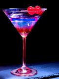 Cherry cocktail  on black background 49 Stock Image