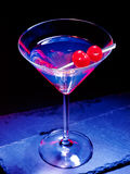 Cherry cocktail  on black background 37 Royalty Free Stock Photography