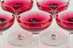 Cherry cocktails Royalty Free Stock Photos