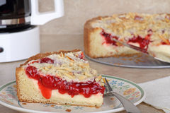 Cherry Coffee Cake Stock Photo