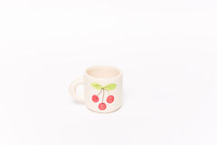 Cherry coffee cup. This is little white Royalty Free Stock Photos