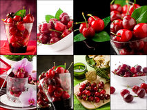 Cherry collage Royalty Free Stock Photos