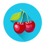 Cherry Colorful Fruit Icon illustrazione di stock