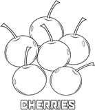 Cherry coloring page Royalty Free Stock Image