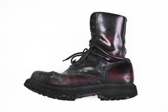 Cherry combat boot Stock Photo