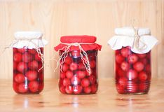 Cherry compote Royalty Free Stock Photos
