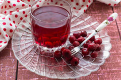 Cherry compote with berries Royalty Free Stock Photography