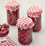 Cherry compote Stock Images