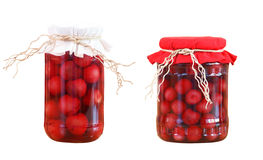 Cherry compotes isolated Stock Photography
