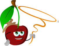 Cherry cowboy with lasso Stock Photo
