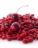 Cherry and cranberries Stock Image