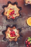 Cherry and Cranberry Tart stock photography