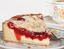 Cherry Cream Cheese Coffe Cake Stock Image
