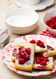 Cherry Cream Cheese Danishes. Royalty Free Stock Photos