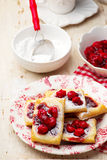 Cherry Cream Cheese Danishes. Stock Photos