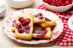 Cherry Cream Cheese Danishes. Stock Photography