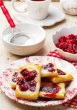 Cherry Cream Cheese Danishes. Stock Images